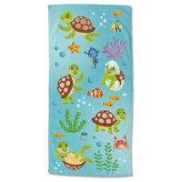 Good Morning Beach Towel TURTLES 75x150 cm Multicolour