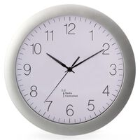 Perel Wall Clock 30 cm White and Sliver
