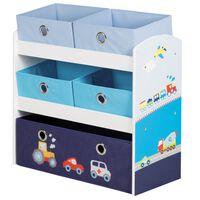 roba Toy Storage Unit Racer Blue 63.5x30x60 cm MDF