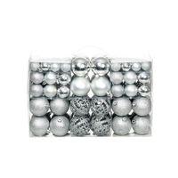 vidaXL 100 Piece Christmas Ball Set 6 cm Silver
