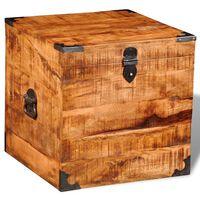 vidaXL Storage Chest Cubic Rough Mango Wood