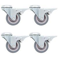 vidaXL 16 pcs Bolt Hole Swivel Casters 50 mm