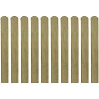 vidaXL 20 pcs Impregnated Fence Slats Wood 80 cm