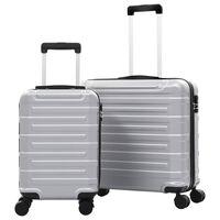 vidaXL Hardcase Trolley Set 2 pcs Silver ABS