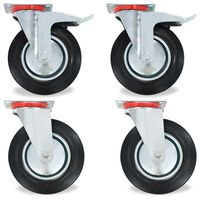 vidaXL 16 pcs Swivel Casters 200 mm