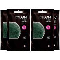 Dylon Hand Fabric Dye Sachet, Forest Green, 4 Packs Of 50g