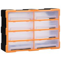 vidaXL Multi-drawer Organiser with 8 Big Drawers 52x16x37 cm
