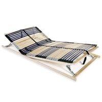 vidaXL Slatted Bed Base with 42 Slats 7 Zones 100x200 cm