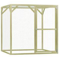 vidaXL Chicken Cage 1.5x1.5x1.5 m Impregnated Pinewood