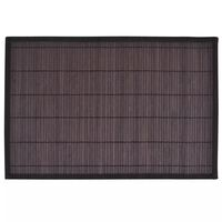 6 Bamboo Placemats 30 x 45 cm Dark Brown