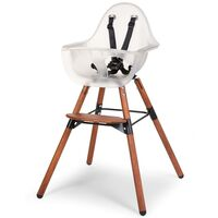 CHILDHOME 2-in-1 High Chair with Bumper Evolu 2 Transparent