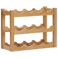 vidaXL Wine Rack for 12 Bottles 47x21x36 cm Solid Oak Wood