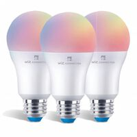Wiz Led A60 Smart Bulb E27 Rgbw Colours Tuneable White & Dimmable 3pk