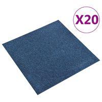 vidaXL Carpet Floor Tiles 20 pcs 5 m² 50x50 cm Dark Blue
