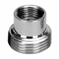 3/4x3/8 Inch Pipe Thread Reduction Male x Female Adaptor Chrome