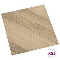 vidaXL Self-adhesive Flooring Planks 55 pcs PVC 5.11 m² Brown Striped