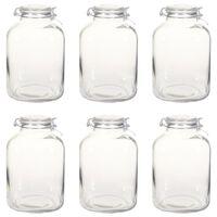 vidaXL Glass Jam Jars with Lock 6 pcs 5 L