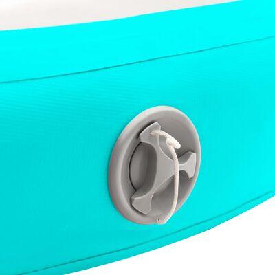 vidaXL Inflatable Gymnastic Mat with Pump 100x100x10 cm PVC Green