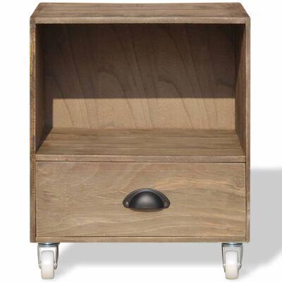 vidaXL Nightstand 2 pcs Brown Solid Wood