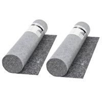 vidaXL Non-slip Painter Fleece 2 pcs 50 m 280 g/m² Grey