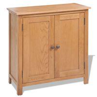 vidaXL Sideboard 70x35x75 cm Solid Oak Wood