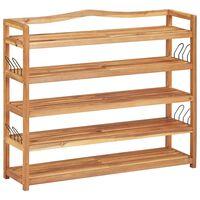 vidaXL 5-Tier Shoe Rack 95x26x80 cm Solid Acacia Wood