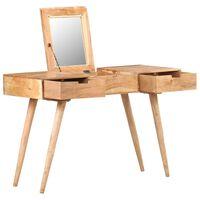 vidaXL Dressing Table with Mirror 112x45x76 cm Solid Acacia Wood