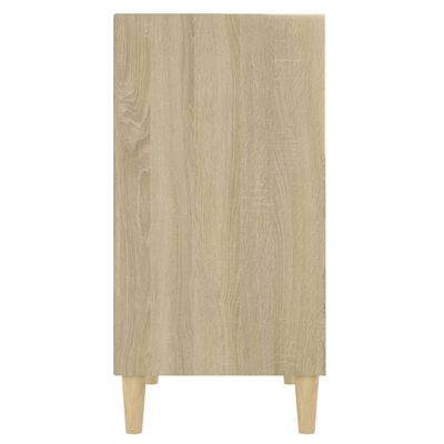 vidaXL Sideboard White and Sonoma Oak 57x35x70 cm Chipboard