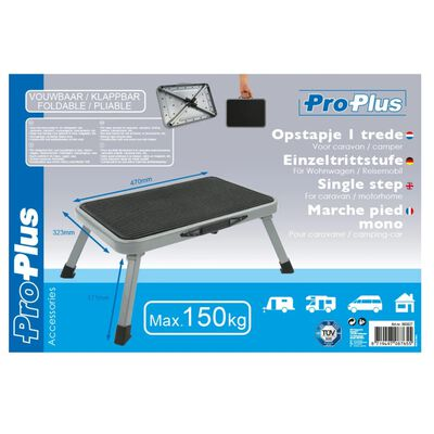 ProPlus Folding Single Step Stool 150kg Metal