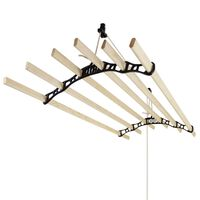 Clothes Airer Ceiling Pulley Maid Traditional Dryer 6 Lath 1.8m Black