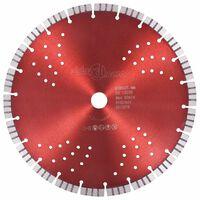 vidaXL Diamond Cutting Disc with Turbo and Holes Steel 300 mm