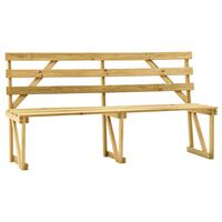 vidaXL Garden Bench 170 cm Impregnated Pinewood