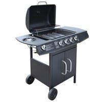 vidaXL Gas Barbecue Grill 4+1 Cooking Zone Black
