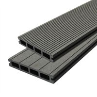 Composite Decking Boards Edging Wood Plastic  / 8 SQM Castle Grey
