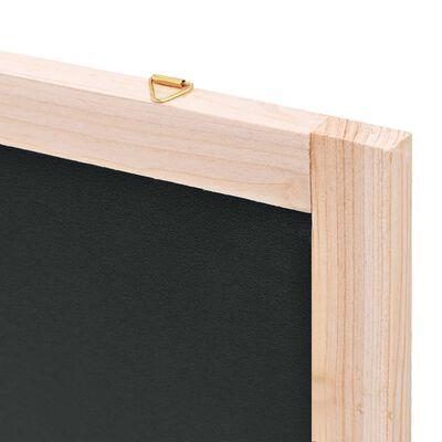 vidaXL Wall-Mounted Blackboard Cedar Wood 60x80 cm