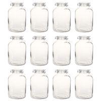 vidaXL Glass Jam Jars with Lock 12 pcs 5 L