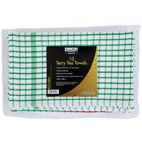 Country Range Terry Tea Towels 45cm x 68cm - 1 x 10