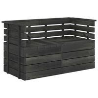 vidaXL Garden 2-Seater Pallet Sofa Dark Grey Solid Pinewood