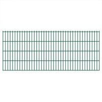 vidaXL 2D Garden Fence Panels 2.008x0.83 m 8 m (Total Length) Green