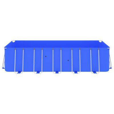 vidaXL Swimming Pool with Steel Frame 540x270x122 cm Blue