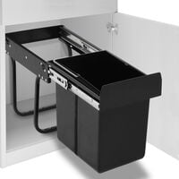 vidaXL Kitchen Cupboard Pull-out Recycled Dustbin Soft-Close 20 L