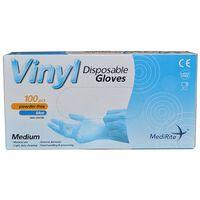 Vinyl Medium Latex Free Blue Disposable Gloves - 10x100