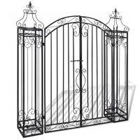 vidaXL Ornamental Garden Gate Wrought Iron 122x20.5x134 cm