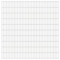 vidaXL 2D Garden Fence Panels 2.008x2.03 m 36 m (Total Length) Silver