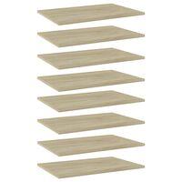 vidaXL Bookshelf Boards 8 pcs Sonoma Oak 60x40x1.5 cm Chipboard