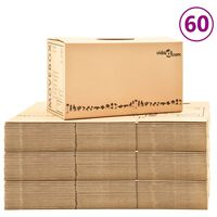 vidaXL Moving Boxes Carton XXL 60 pcs 60x33x34 cm