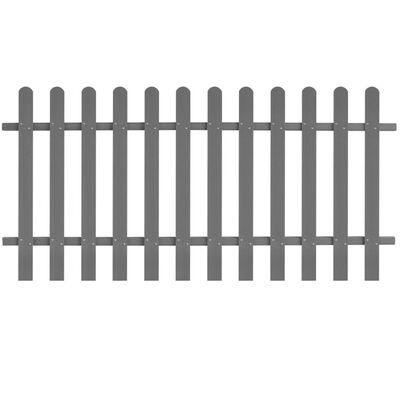 vidaXL Picket Fence WPC 200x100 cm