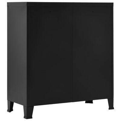 vidaXL Filing Cabinet Industrial Black 90x40x100 cm Steel,