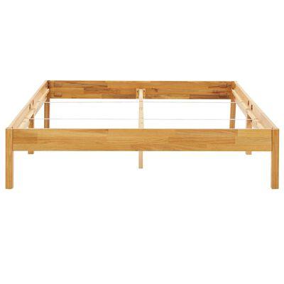 vidaXL Bed Frame Solid Oak Wood 140x200 cm