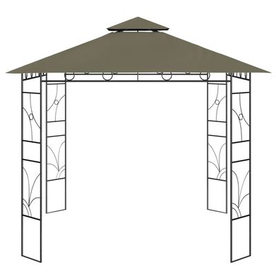 vidaXL Gazebo 3x3x2.7 m Taupe 160 g/m²